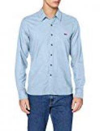 Levi's LS Battery Hm Shirt Camisa, Azul (Allure 0011), Small para Hombre