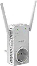 Netgear EX6130 Repetidor de red WiFi extensor amplificador de cobertura AC1200, doble banda, toma de enchufe, puerto LAN, compatibilidad universal