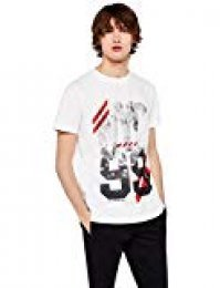 Marca Amazon - find. Camiseta Estampada NYC 99 Hombre