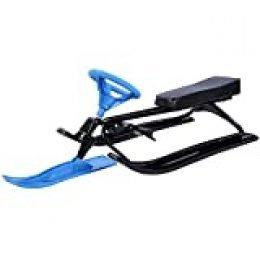 Wakects Snow Racer - Trineo de esquí para niños, con Volante y Frenos