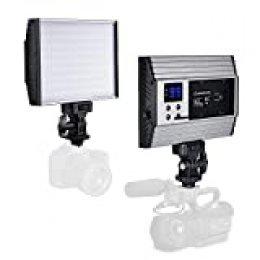 Zecti Luz LED de Video Súper Delgada (144LED 3200-5600K 1500LM) LED Video Light Aluminio adecuado para la Grabación nocturna,Fotografía de niños