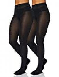 Iris & Lilly by Wolford Medias Mujer, Pack de 2, Azul (Almirante), XS, Label: XS