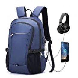 Cindeyar Mochila para portátil, resistente al agua, mochila de viaje, mochila para hombre, mochila de gran capacidad, mochila multifunción, mochila de negocios con puerto de carga USB de 15,6 pulgadas