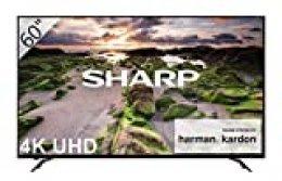 """Sharp LC-60UI9362E - Smart TV Slim UHD de 60"""" (resolución 3840 x 2160, HDR+, Sonido Harman/kardon, 3X HDMI, 3X USB, Active Motion 800) Color Negro"""