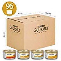 Gourmet Gold Mousse para El Gato, con Pescado, con Fegato, con Pavo, con Manzo Prelibato, Pack de 8Unidades x 85g