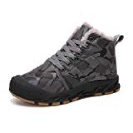Veluckin Botas de Nieve Niños Botas de Invierno Botas de Calentamiento de Piel Botas de Tobillo Zapatos