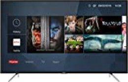 TCL 55DP602, Televisor de 55 Pulgadas, Smart TV con UHD 4K, HDR, Dolby Digital Plus, T-Cast y sintonizador Triple, Color Negro[Clase de eficiencia energética A+]