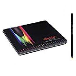 Conté Colouring Lápices de colores - colores Surtidos, Caja Metálica de 24 unidades
