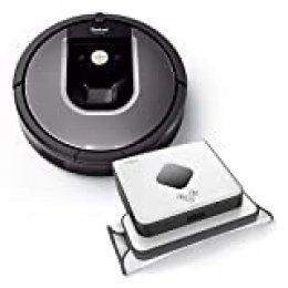 iRobot R960_B390T Alta Potencia de Limpieza en Todos los Suelos, óptimo para pelos de Animales y Grandes Espacios, Antracita y Plateado