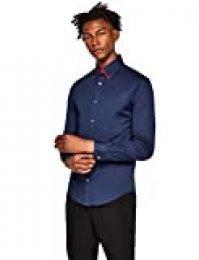 T-Shirts Camisa Oxford con Cuello Doble Hombre