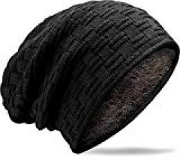 MUCO Gorros Hombre Mujer Unisex Invierno Cálido Sombreros de Punto Forro Polar Beanie Gorro