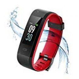 Vigorun Pulsera Inteligente IP68 Impermeable Fitness Tracker Pulsera de Actividad Rastreador de Actividad de Pantalla en Color Monitor de Pulso cardiaco/Podómetro/Monitor de sueño,para Hombre y Mujer