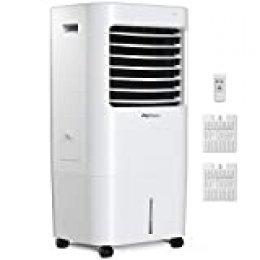 Pro Breeze Climatizador Evaporativo Portátil 10L con 4 Modos de Funcionamiento, 3 Velocidades de Ventilador, Pantalla LED y Control Remoto