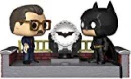 Funko- Pop Figura De Vinil: Movie Moment: Batman 80th-with Light Up Bat Signal w Coleccionable, Multicolor (37258)
