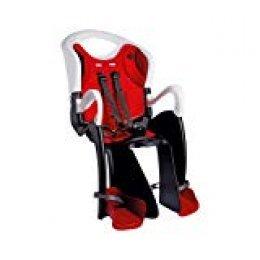 Bellelli TGTR00020 -Portabebé de ciclismo, color blanco/ rojo