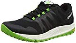 Merrell Nova, Zapatillas de Running para Asfalto para Hombre, Negro (Black/Lime), 43 EU