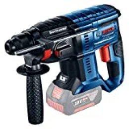 Bosch Professional GBH 18V-20 Martillo perforador, 1,7 J, máximo hormigón 20 mm, portabrocas SDS plus, sin batería, en caja, 0 W, Azul, 18 V 20, 18V