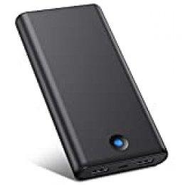VOOE Batería Externa Móvil Power Bank 25800mAh [Diseño Anti-Huella Digital] Carga Rápida Cargador Portátil con 2 Puertos USB para iPhone iPad Samsung Dispositivos Android Tablets Nintendo Switch y Más
