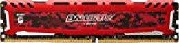 Crucial Ballistix Sport LT BLS16G4D32AESE 3200 MHz, DDR4, DRAM, Memoria Gamer para ordenadores de sobremesa, 16 GB, CL16 (Rojo)