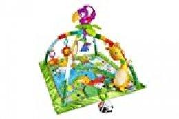 Fisher-Price Gimnasio deluxe animalitos de la selva, manta de juego bebé (Mattel DFP08)
