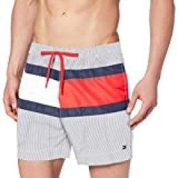 Tommy Hilfiger Medium Drawstring Bañador, Blanco, Large (Talla del Fabricante:) para Hombre
