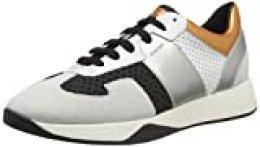 Geox D Suzzie B, Zapatillas para Mujer, Marfil (Black/Off White C9876), 36 EU