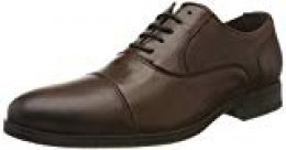 Jack & Jones Jfwdonald Leather Cognac Noos, Zapatos de Cordones Derby para Hombre