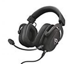 Trust GXT 414 Zamak Auriculares Gaming para PC, Laptop, PlayStation 4, Xbox One y Nintendo Switch, Negro
