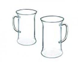 Bohemia 859341918468 Set 6 Vasos-Taza té Irish, con asa, capacidada de 0,25 litros