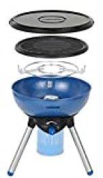 Campingaz Party Grill 200 Barbacoa Portátil Camping, BBQ Parrilla y Hornillo, 2000 W, Funciona con Cartucho de Gas CV 470 Plus, acero, Azul, 15 x 3 x 15 cm