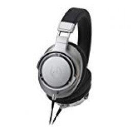 Audio-Technica ATH-SR9 - Auriculares de Diadema Cerrados en Alta resolución, Plata