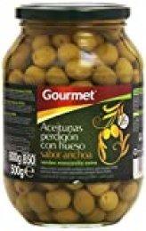 Gourmet - Aceitunas perdigón con hueso - Sabor Anchoa - 500 g