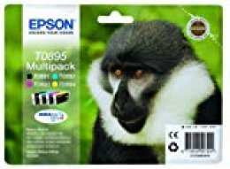 Epson C13T08954010 - Juego De 4 Tinta Epson Multipack válido para EPSON Stylus y EPSON Stylus Office BX300F, Ya disponible en Amazon Dash Replenishment