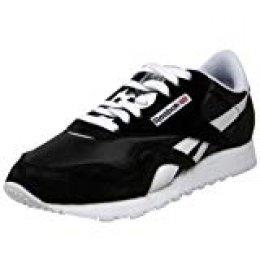 Reebok Classic Nylon - Zapatillas de Entrenamiento Mujer, Negro (Black / White), 35.5 EU