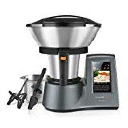 Taurus Mycook Touch Robot de Cocina, 1600 W, 2 litros, 0 Decibelios, Plástico|Acero Inoxidable, 10 Velocidades, Gris