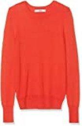 Marca Amazon - find. Jersey con Cuello Redondo Mujer, Rojo (Red), 40, Label: M