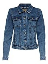 Only Onltia Dnm Jacket BB MB Bex02 Noos Chaqueta Vaquera, Azul (Medium Blue Denim Medium Blue Denim), 40 (Talla del Fabricante: 38) para Mujer