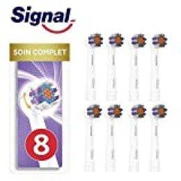 Signal Integral 8 Cabezales eléctricos de cuidado completo, Compatible con Oral-B (Paquete de 4 x 2 unidades)