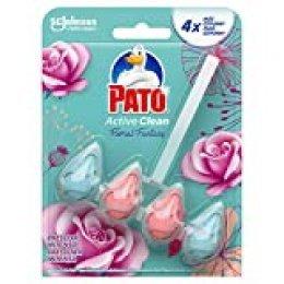 Pato Active Clean - Colgador wc, frescor intenso, perfuma limpia y desinfecta, aroma Floral Fantasy