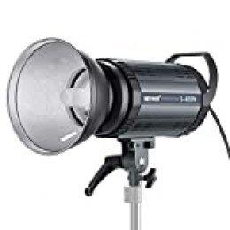 Neewer Flash Estroboscópico Profesional de Estudio Monoluz - 400W Gn.60 5600K con Lámpara de Modelado para Fotografía de Interior Estudio de Modelos y Fotografía de Retrato (S400N)