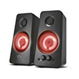 Trust GXT 608 - Set de Altavoces iluminados Gaming 2.0 para Ordenador, Negro