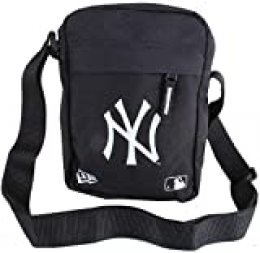 New Era MLB Side Bag Neyyan Blkwhi Bandolera, Unisex Adulto, Black, Talla Única