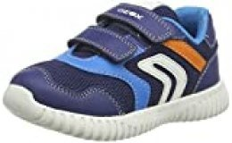 Geox B Waviness Boy A, Zapatillas para Bebés, Azul (Navy/Sky C4231), 24 EU
