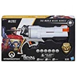 Nerf- Rival Overwatch Mccree y 6 recargas (Versión Española), Multicolor (Hasbro E3121190)