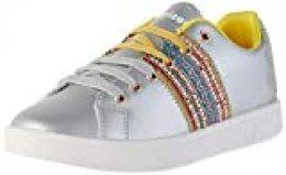Desigual Shoes Cosmic Exotic Moon, Zapatillas para Mujer, Plata 2004, 41 EU