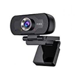 Mifa Cámara Web, T80 Webcam PC, Cámara de Computadora 1080P Full HD con Micrófono y Luz Indicadora de Privacidad, Webcam USB para PC para Videoconferencia, Enfoque Automático