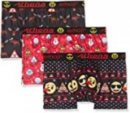 ATHENA Emoji Bañador, Multicolor (Christmas/Luges/Elans 9000), X-Large (Talla del Fabricante: 5) (Pack de 3) para Hombre