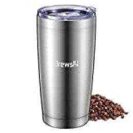 Brewsly 600ml Frascos térmicos para Bebida (Plata)