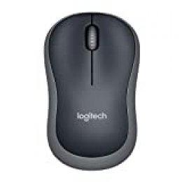 Logitech M185 Ratón Inalámbrico, 2,4 GHz con Mini Receptor USB, Batería 12 Meses, Seguimiento Óptico 1000 DPI, Ambidiestro, PC/Mac/Portátil - Gris