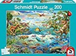 Schmidt Spiele- Descubre los Dinosaurios 200 Piezas Puzzle Infantil (SCH56253)